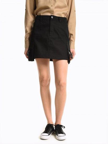 Mini sukňa cargo