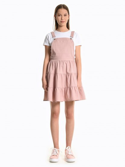 A-line dungaree skirt