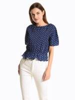 Cropped top with dots