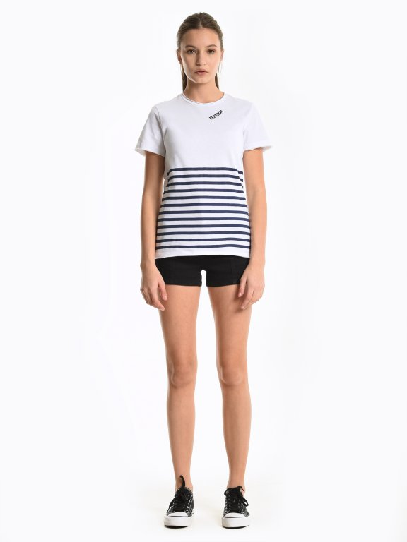 Printed t-shirt with stripes
