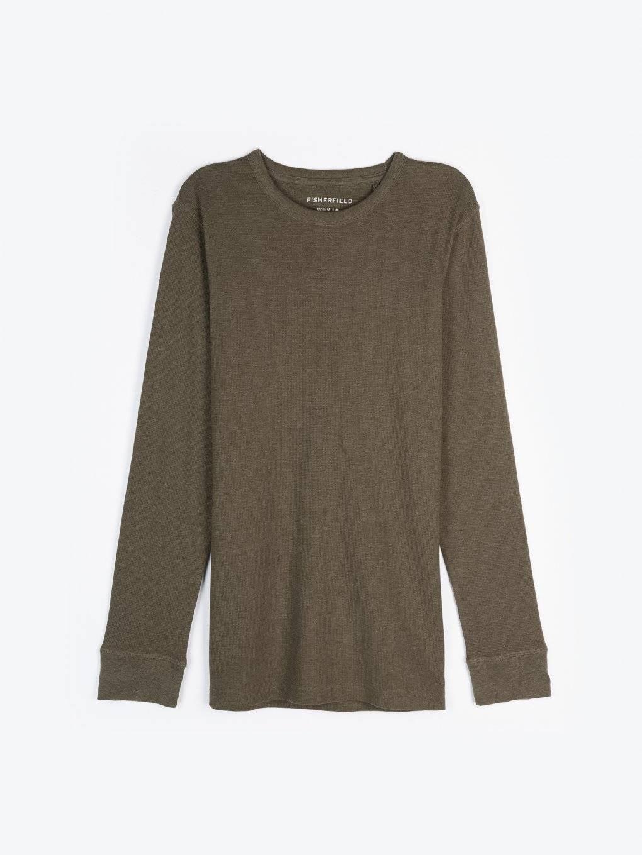 Basic waffle knit t-shirt