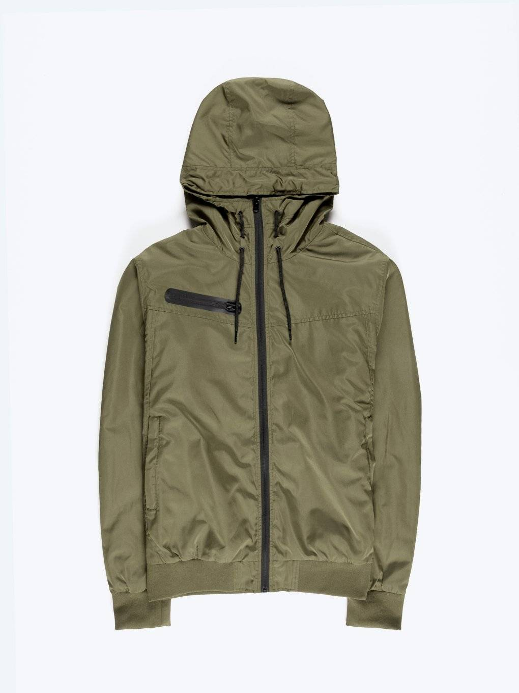 Plain hooded jacket