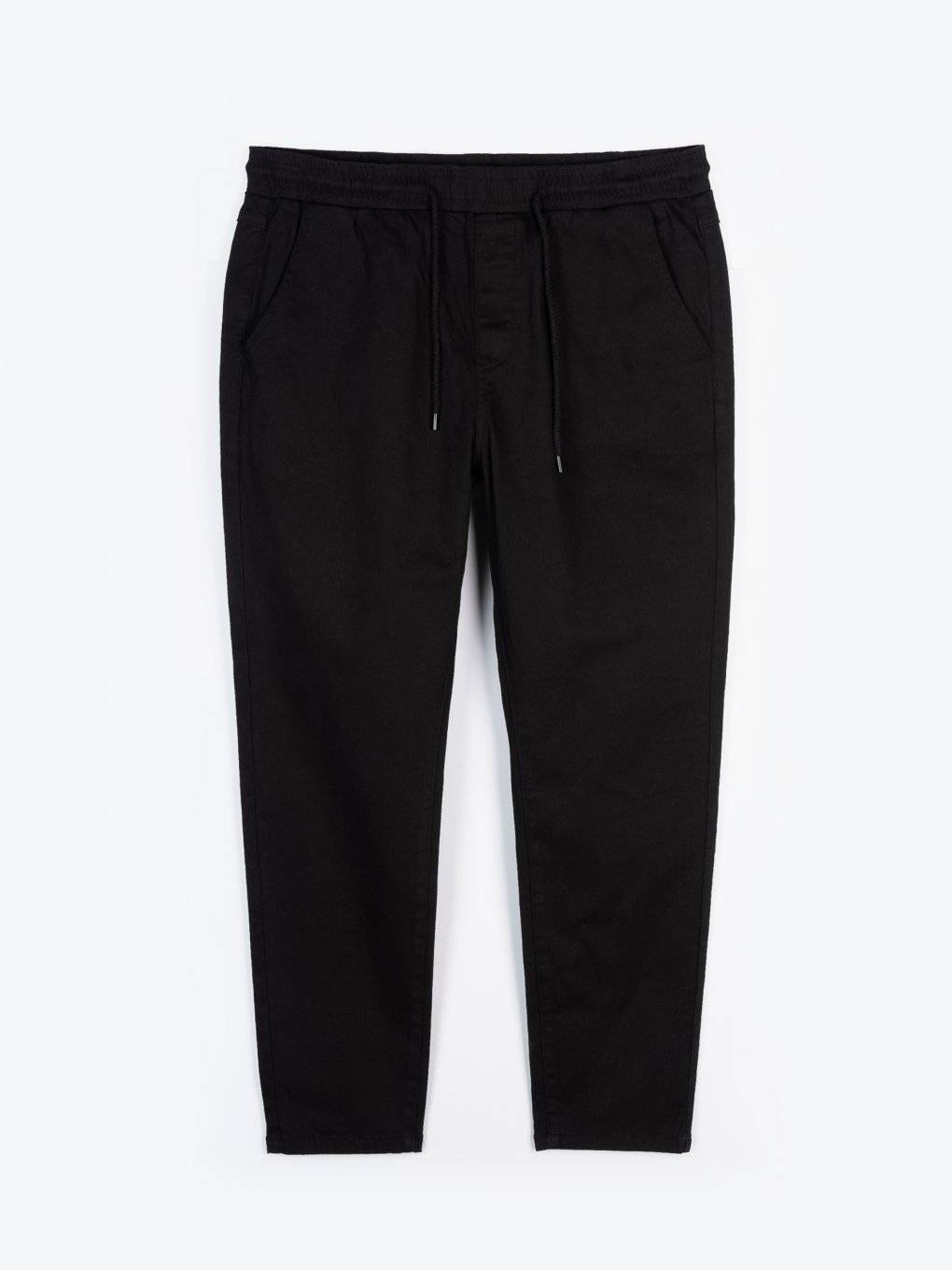 Cropped plain stretch trousers