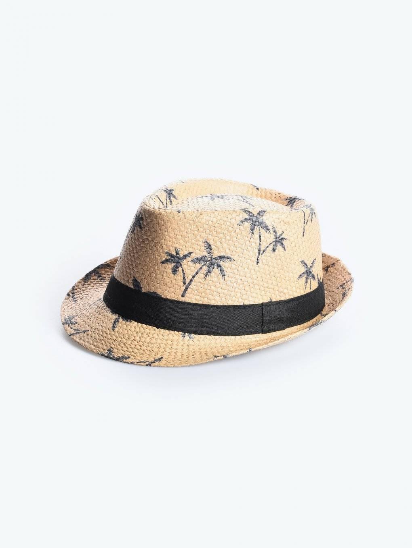 Printed fedora hat