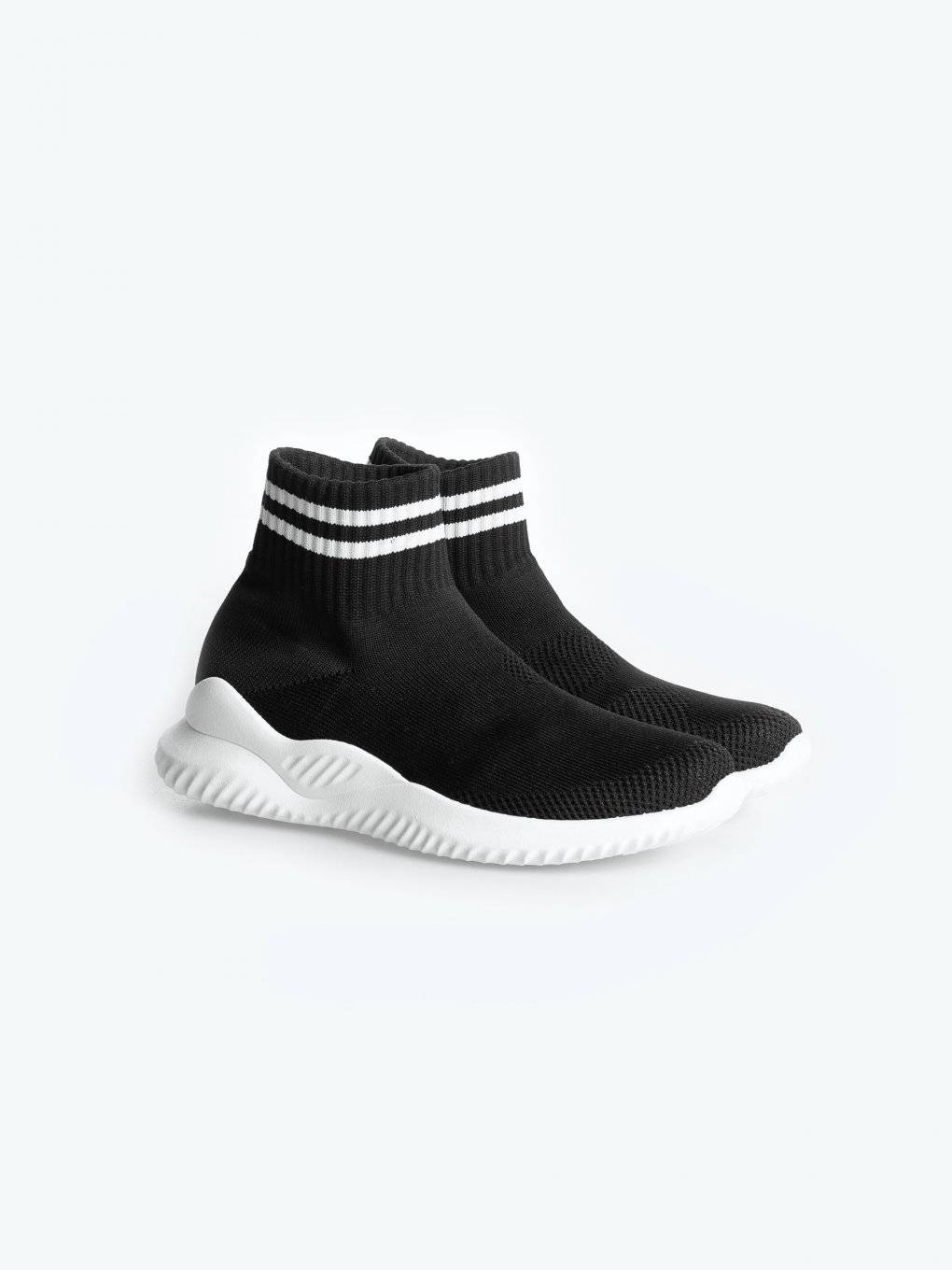 Knit sock sneakers