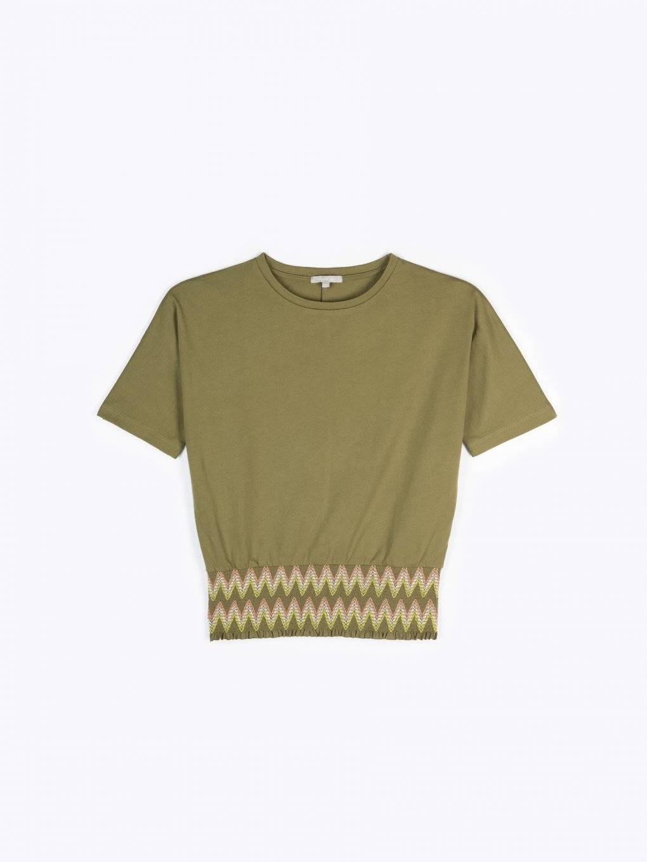 Tričkový top s elastickým lemem
