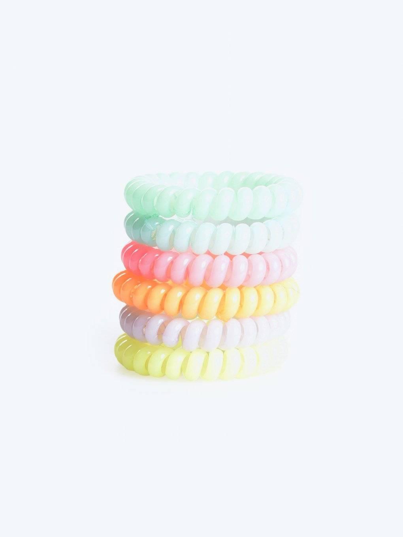 Sada šesti barevných gumiček do vlasů