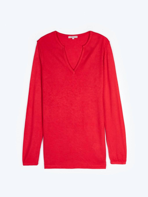Basic viscose v-neck t-shirt