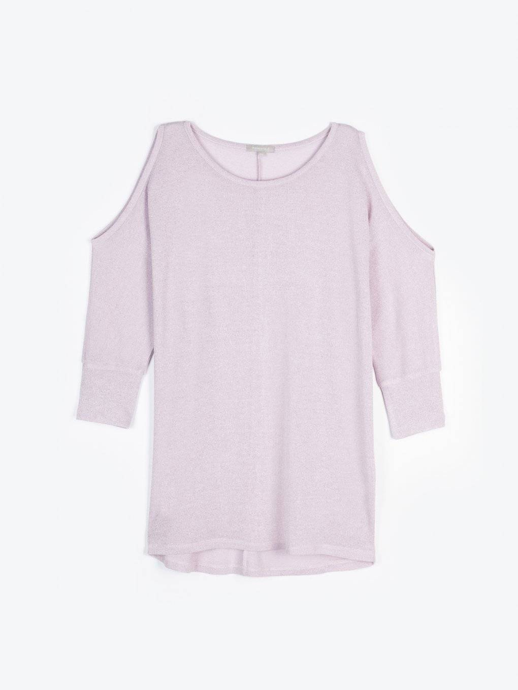 Cold-shoulder pullover