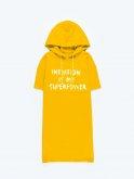 Longline hoodie with slogan print