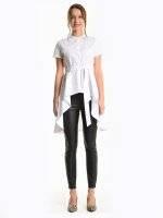 Longline peplum blouse
