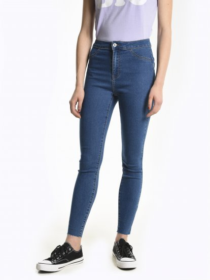Basic high waisted skinny jeans