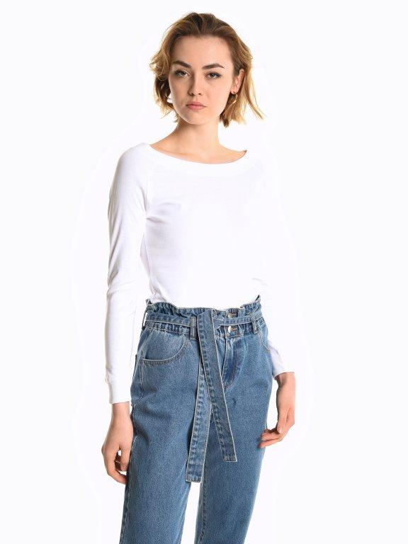Basic ribbed t-shirt