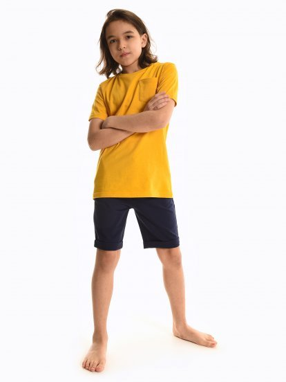 Plain sweatshorts with pockets
