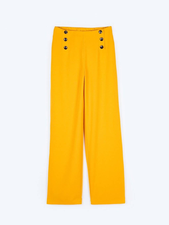 Široké kalhoty s vysokým pasem