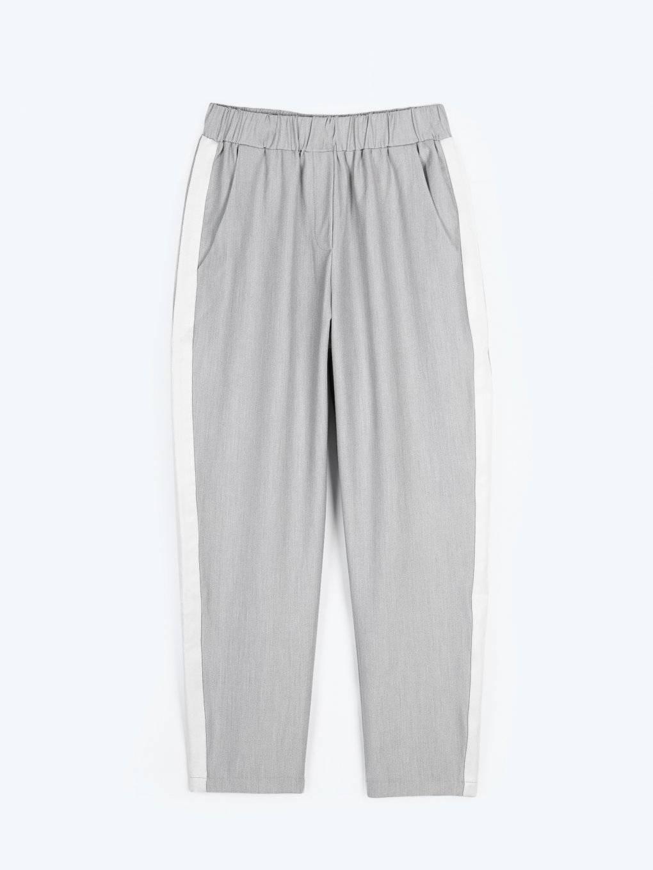 Strečové nohavice s bočným prúžkom