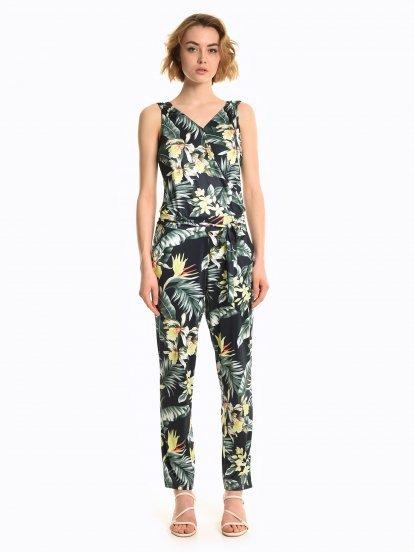Florat print jumpsuit