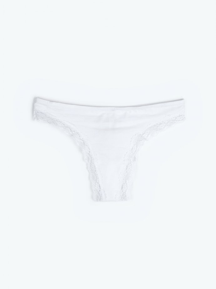 Lace thong panties