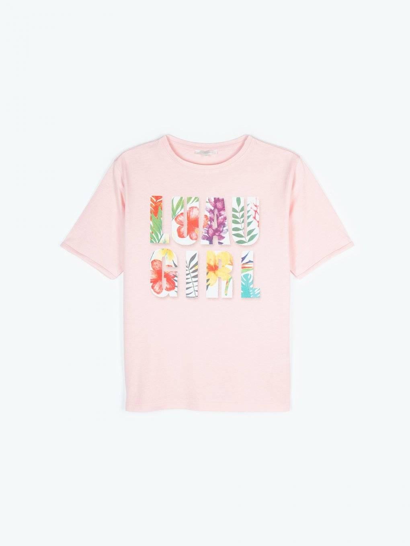 T-shirt with slogan print