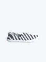 Striped slip-ons
