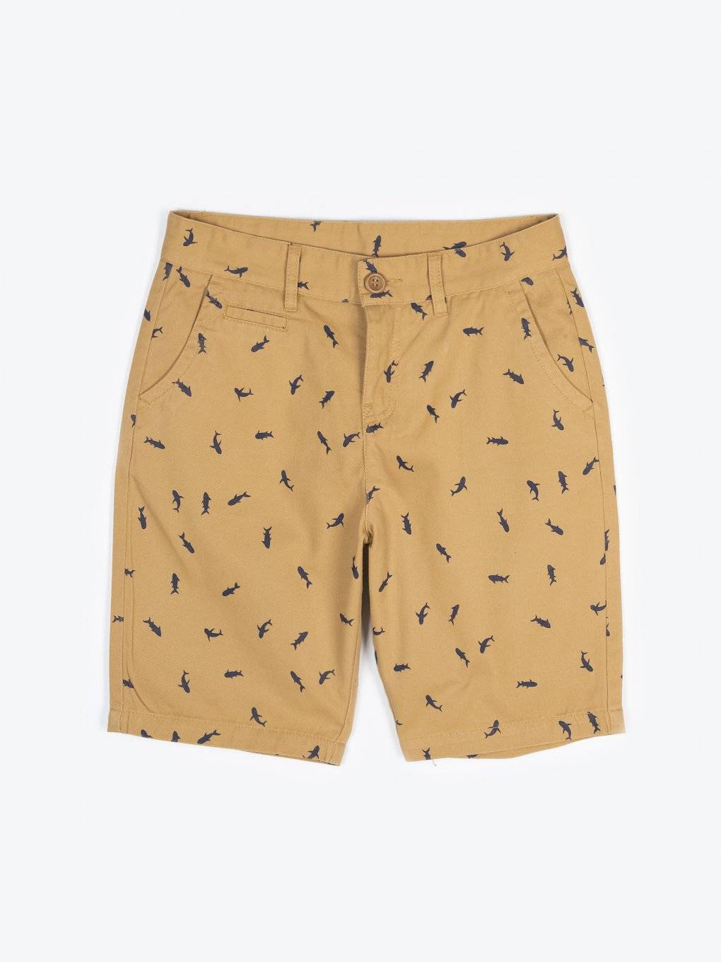 Cotton chino shorts with print