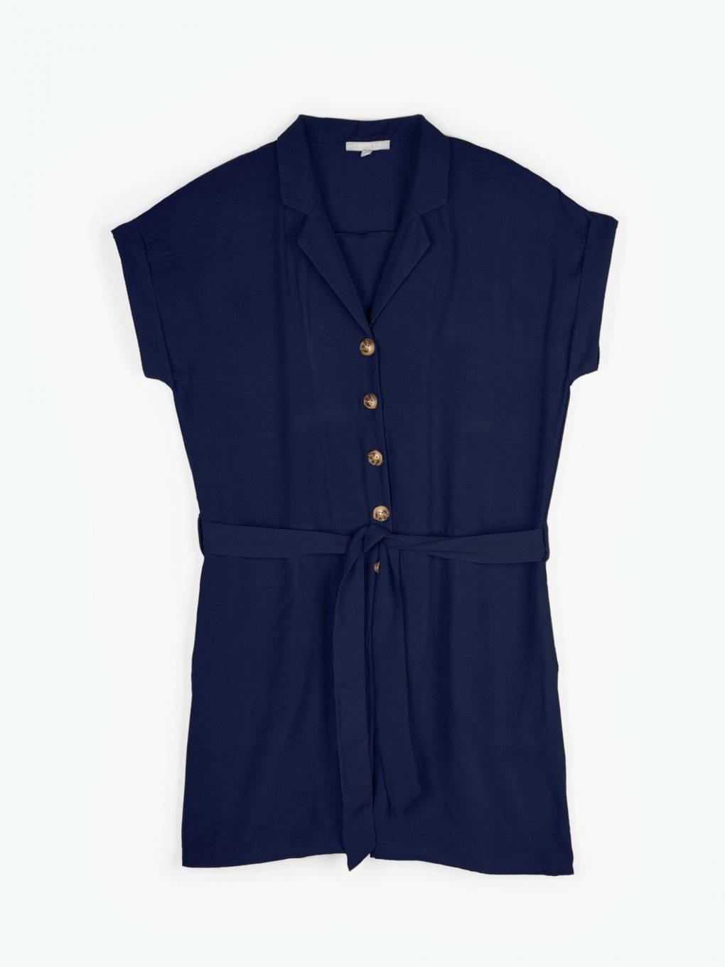 Button-up short jumpsuit