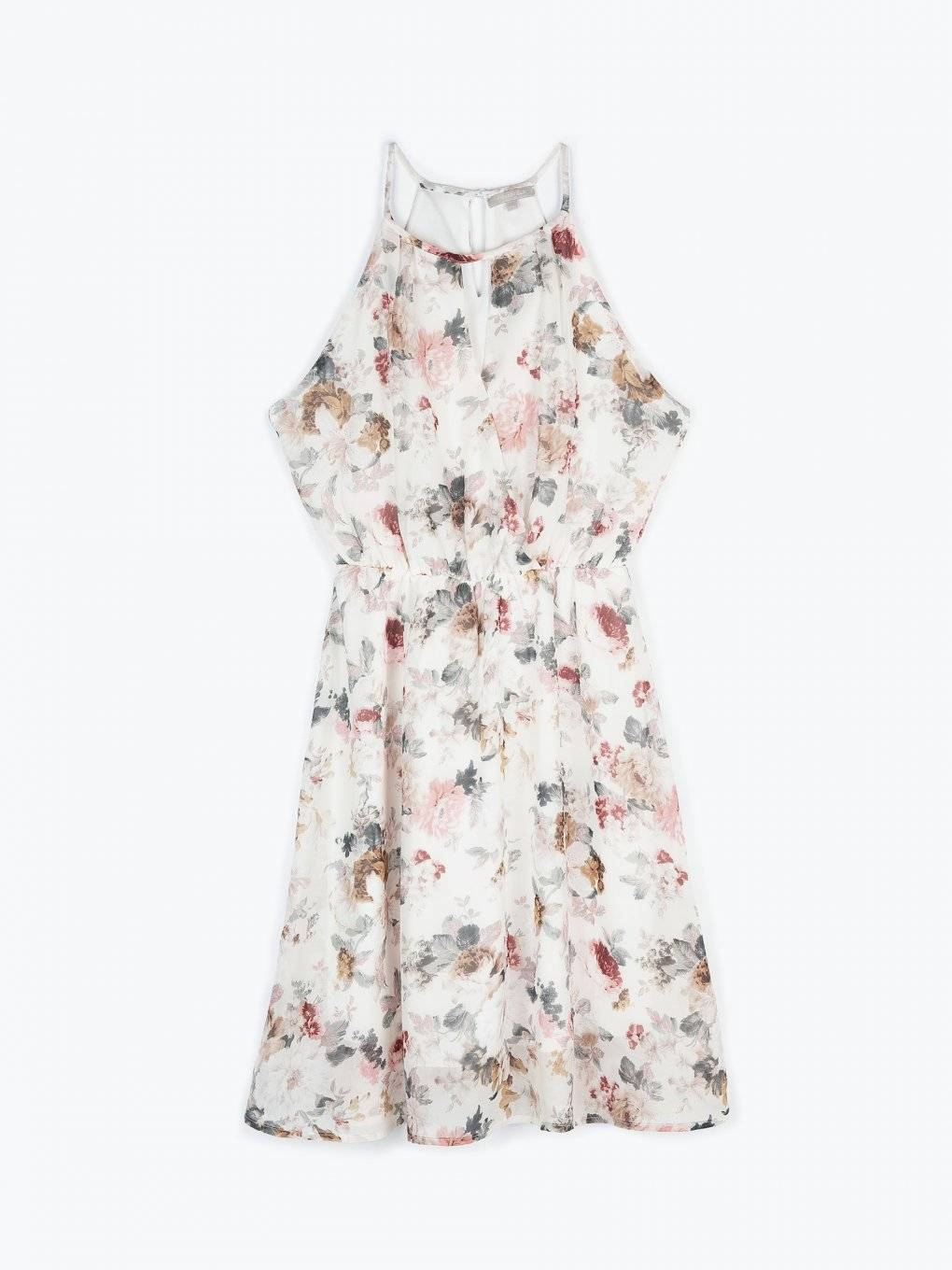 Halterneck floral dress