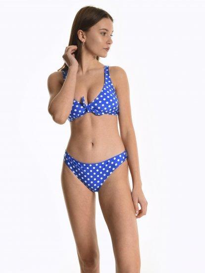 Polka-dot bikini bottom