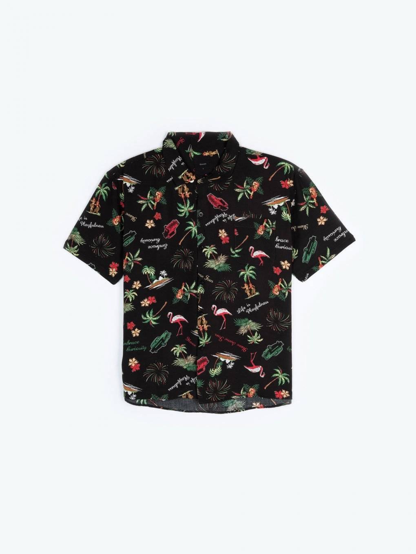 Košeľa s krátkym rukávom s potlačou