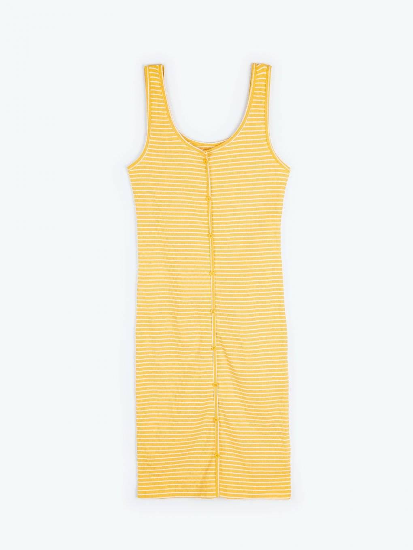 Proužkované pouzdrové šaty