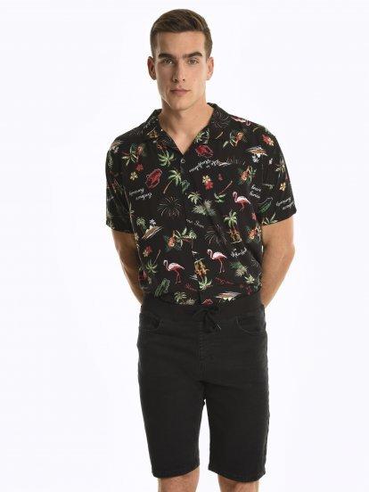 Printed short sleeve shirt