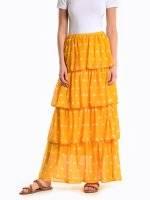Polka dot print maxi skirt