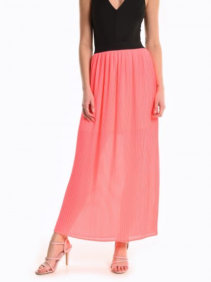 Maxi neon skirt