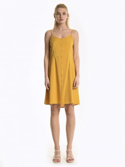Viscose dress with open back