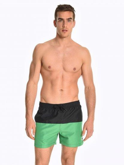 Colour block swim shorts