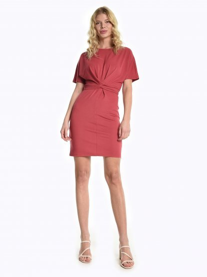 Comfy dresss with front knot detail