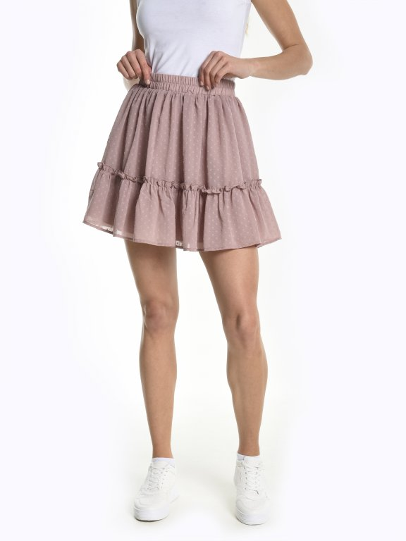 Mini skirt with ruffle