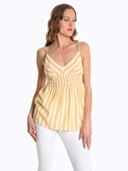 Strappy striped top