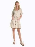 Button down viscose dress
