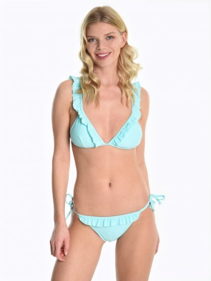 Bikini top with ruffle