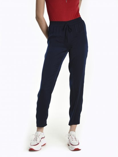 Taped jogger fit trousers