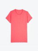 Basic slim fit t-shirt with raw edges