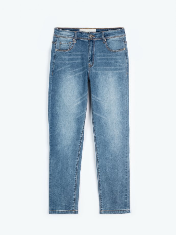 Basic straight slim  fit jeans