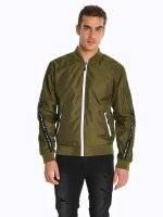 Taped bomber jacket