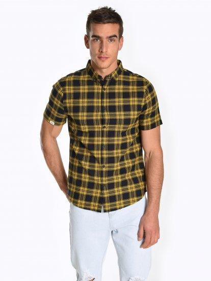 Károvaná bavlnená košeľa