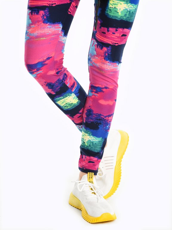 Lace-up sneakers with neon details