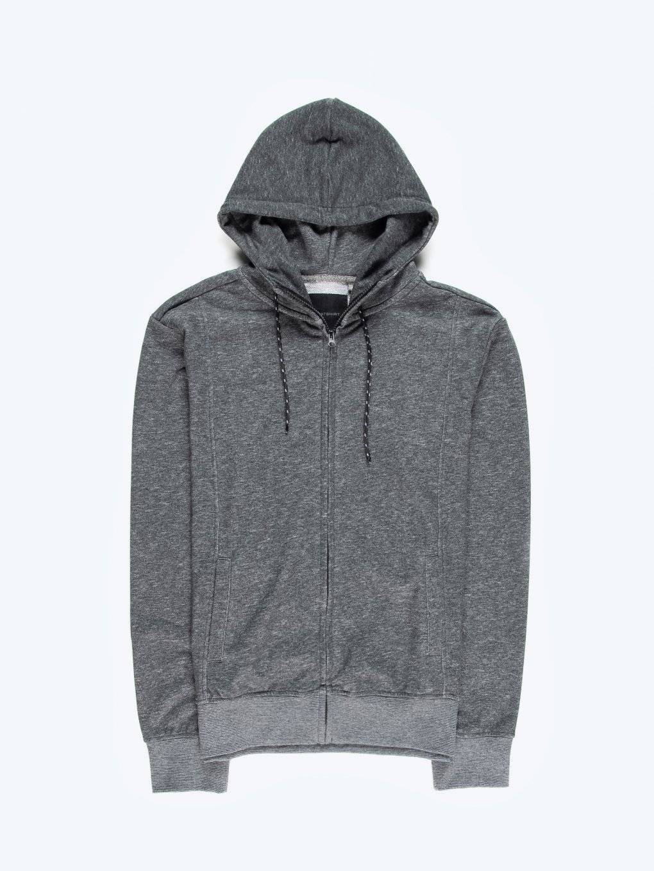 Marled zip-up hoodie
