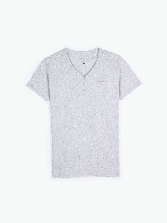 Basic dżersejowa koszulkami z guzikami