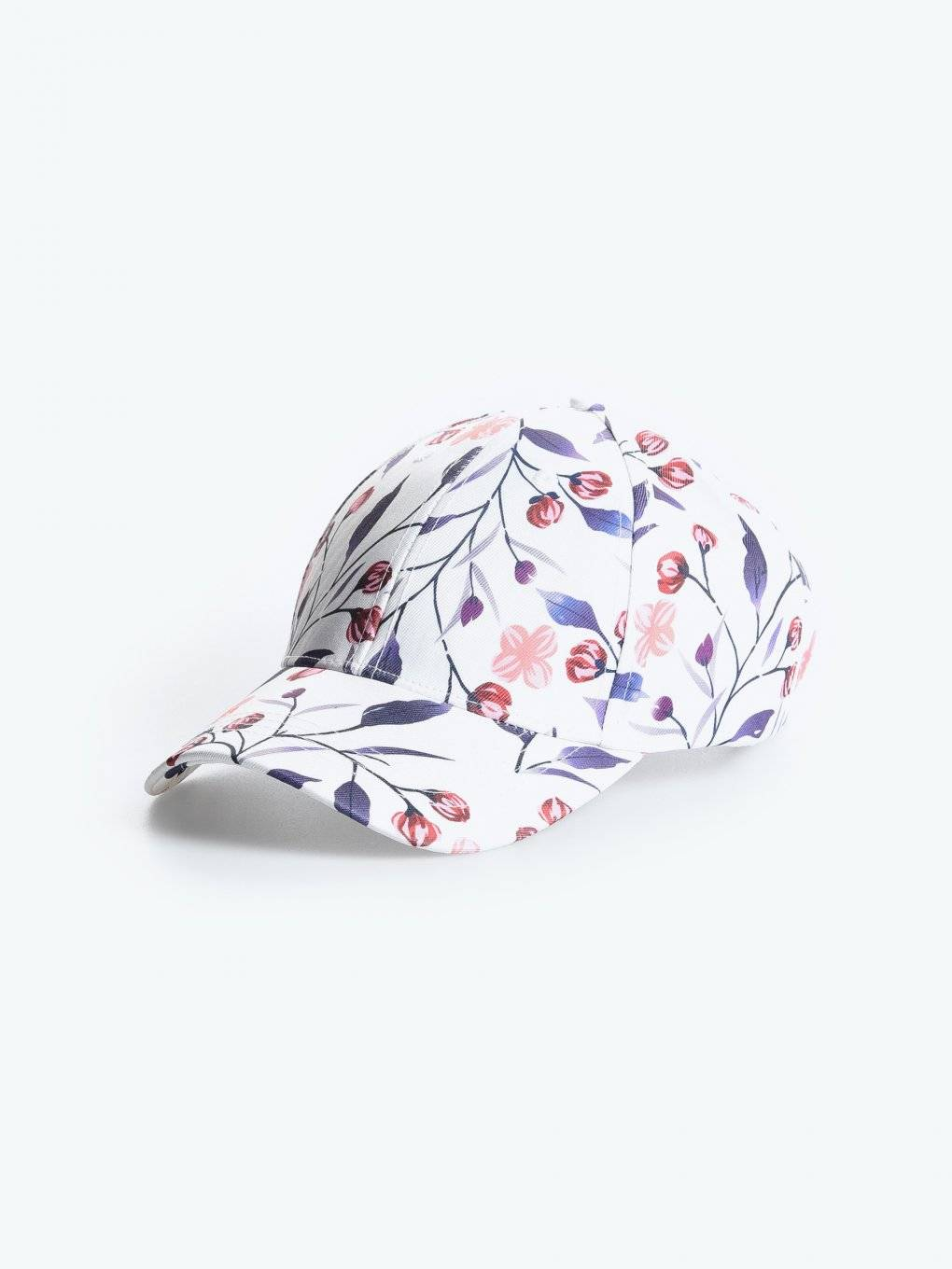 Baseball cap with floral print
