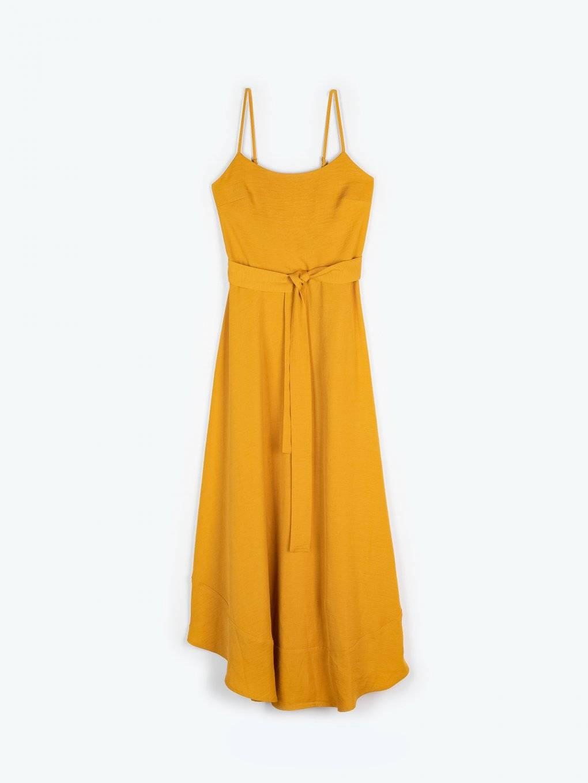 Maxi dress with asymmetric hem
